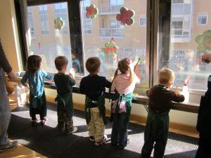 This is an older picture, but I find it awesome. 5 kids under 5 years old all doing the same thing quietly.  Amazing!