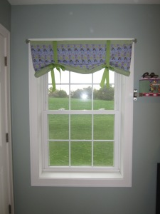 New valance for G's bedroom
