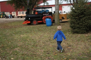 Running for the train at Waldvogel's