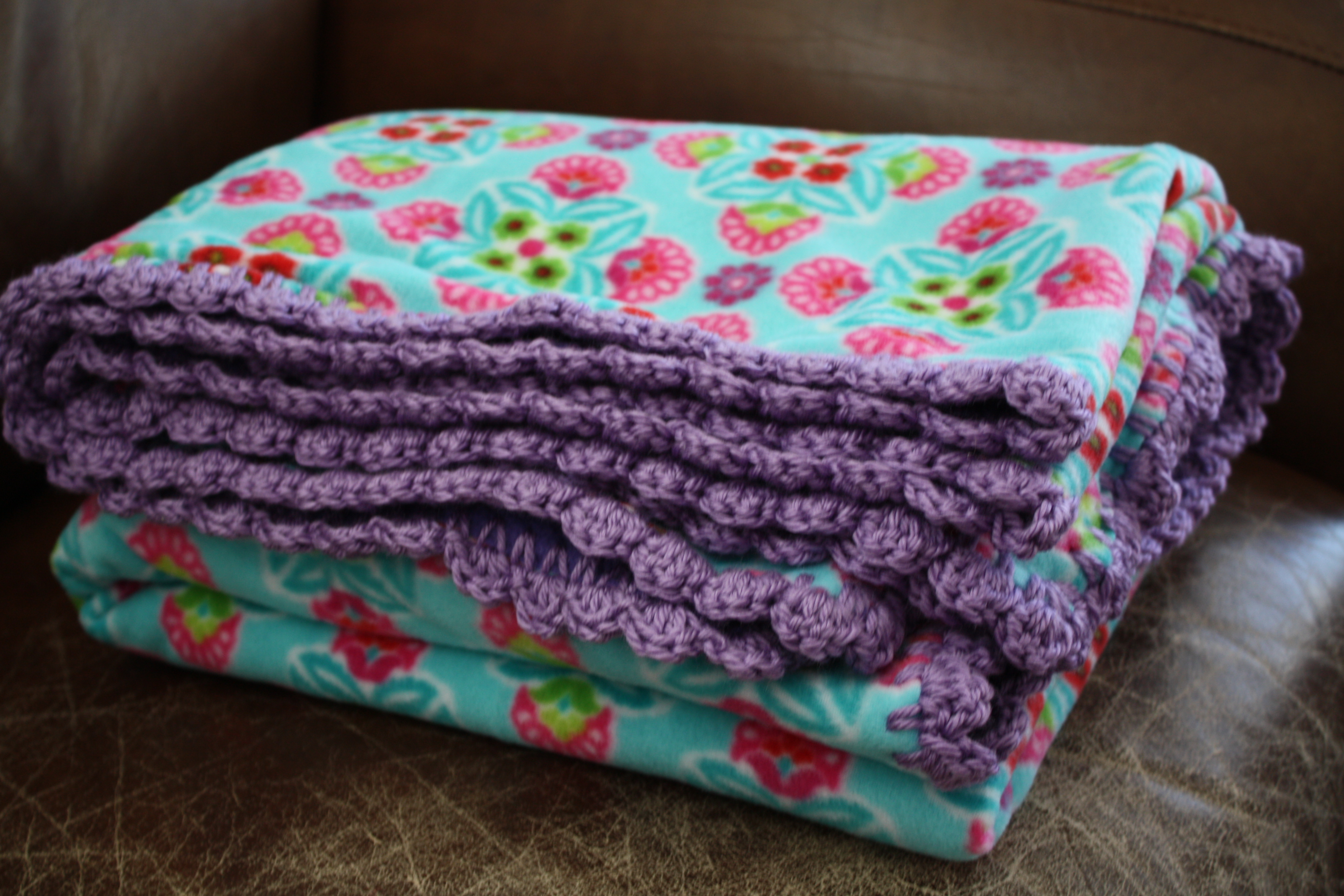Crochet Edge Fleece Blankets