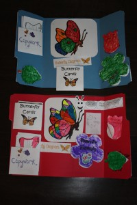 Inside of butterfly lapbooks