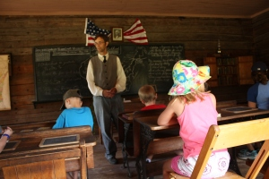 Learning about what it was like in a one room schoolhouse.